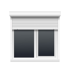 Window with Rolling Shutters vector