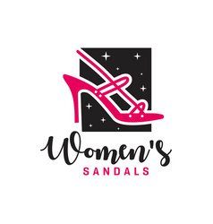 womens shoes product logo vector image