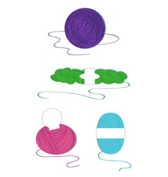 Yarn balls set vector