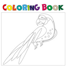 coloring pages parrot vector image vector image