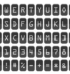 Counter with digits and letters Flat design vector image vector image