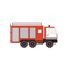 firetruck for game ui app on a white background vector image vector image