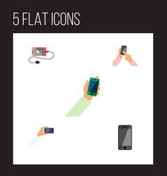 Flat icon phone set of interactive display vector
