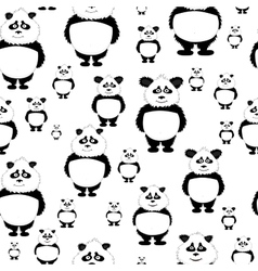 seamless pattern Panda bear vector image