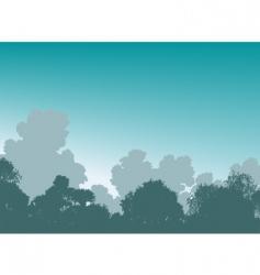 woodland treetops vector image vector image