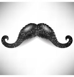 Dark mosaic mustache vector