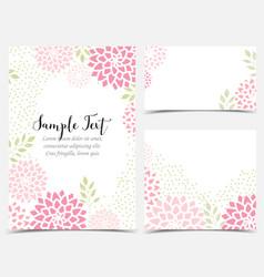 Floral invitations vector