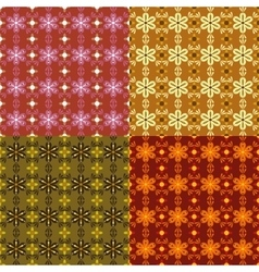 four seamless abstract patterns vector image vector image