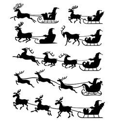 santa set snow vector image
