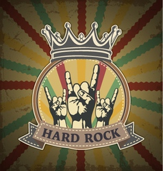 Symbol of hard rock vector image