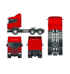 truck tractor or semi-trailer truck cargo vector image