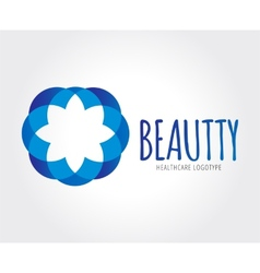 Abstract flower logo template for branding vector image