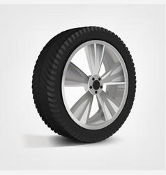 car wheel image vector image