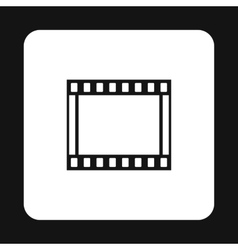 Film strip icon simple style vector image vector image