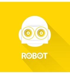 funny robot head logo design vector image vector image