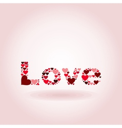 Inscription love vector image vector image