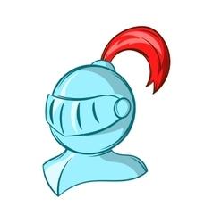 Medieval helmet icon cartoon style vector image