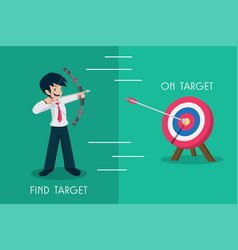 salary man 01 find target vector image