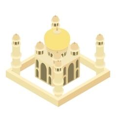 Taj Mahal icon cartoon style vector image