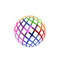 unusual colorful isolated logo frame of the ball vector image