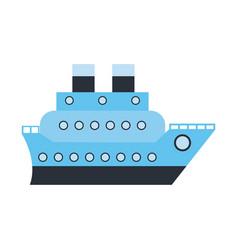 Boat cruise travel sea vector