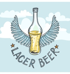 Lager Beer On Sky Background vector image