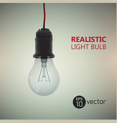 realistic electric bulb background vector image