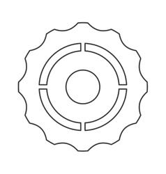single gear icon vector image vector image