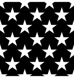 Stars seamless pattern big white vector image vector image