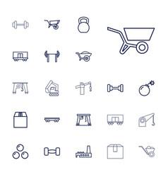 22 heavy icons vector