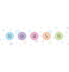 5 employment icons vector