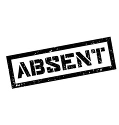 Absent rubber stamp vector