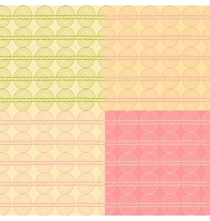 Abstract seamless pattern set in delicate colors vector image