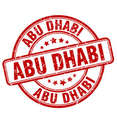 Abu dhabi stamp vector