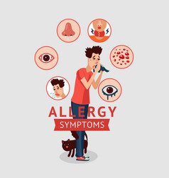 Allergy symptoms concept vector