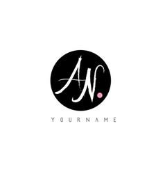 an handwritten brush letter logo design with vector image