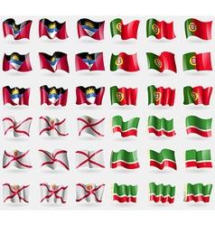 Antigua and Barbuda Portugal Jersey Chechen vector image