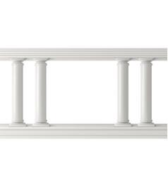 Antique columns set figured pillars balustrade vector