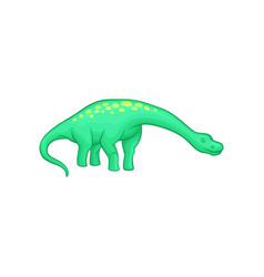 apatosaurus dinosaur with long neck tail and vector image