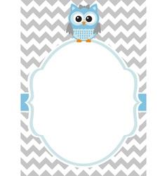 baboy owl card vector image