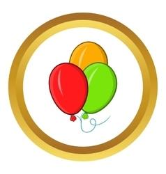 Balloons icon cartoon style vector