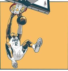 Basketball player dunking vector