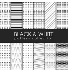 Black and white pattern collection vector