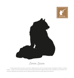 black silhouette of bear vector image vector image