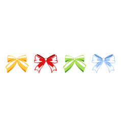 bows collection isolated on white background vector image