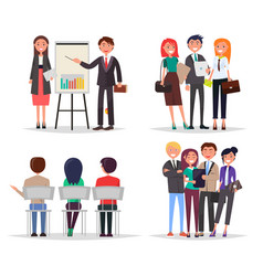business meeting abstract vector image