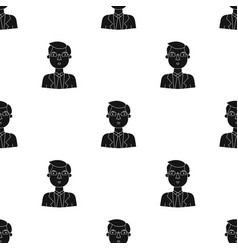 businessman icon in black style isolated on white vector image