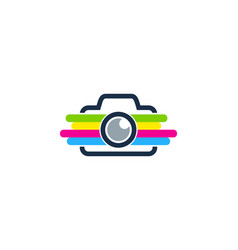 camera paint logo icon design vector image