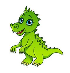 cartoon dinosaur isolated vector image
