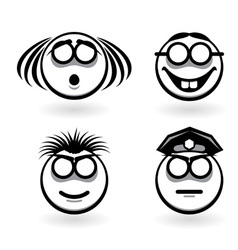 cartoon of emotions vector image